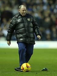Yeovil Town Manager, Gary Johnson retrieves the ball-Photo mandatory by-line: Matt Bunn/JMP - Tel: Mobile: 07966 386802 02/11/2013 - SPORT - FOOTBALL - Elland Road - Leeds - Leeds United v Yeovil Town - Sky Bet Championship