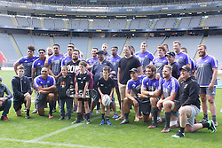 October 21, 2016 - Auckland, New Zealand - New Zealand All Blacks team pose for a photo after the  captain's run at Eden Park on October 21, 2016 in Auckland, New Zealand, ahead of the Third Bledisloe Cup test match against Australia Wallabies on Oct 22. (Credit Image: © Shirley Kwok/Pacific Press via ZUMA Wire)
