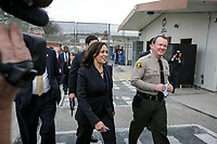 Kamala Harris appeared at the Pitchess Detention Center in Castaic, California when she was California Attorney General. Photo by David Sprague