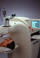 lasersight machine & patient.