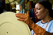 Belo Horizonte_MG, Brasil...Mulher trabalhando com reciclagem na Asmare...Women working with recycling in the Asmare...FOTOS: BRUNO MAGALHAES / NITRO