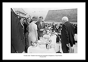 President John F. Kennedy outside his ancestral home at Dunganstown, County Wexford.<br /> <br /> 27th June 1963
