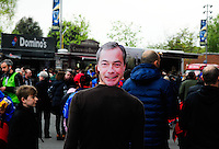 Nigel FARAGE - 02.05.2015 - Clermont / Toulon - Finale European Champions Cup -Twickenham<br />