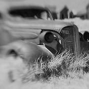 Abandoned Car - Bodie, CA - Lensbaby - Black & White
