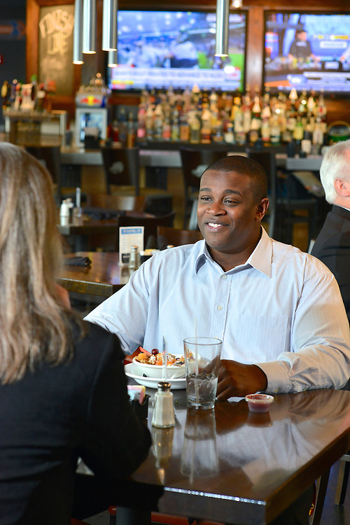 Male guest at The Game Grill+Bar at Canal Park.