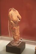Venus of Malta female stone carved figure from Hagar Qim temples, National Museum of Archaeology, Valletta, Malta