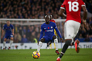 N'golo Kante of Chelsea looks on at the ball.  Premier league match, Chelsea v Manchester United at Stamford Bridge in London on Sunday 5th November 2017.<br /> pic by Kieran Clarke, Andrew Orchard sports photography.