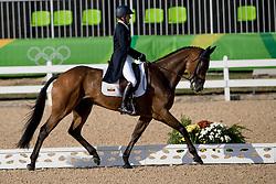 Wettstein Nicola, ECU, Nadeville Merze<br /> Dressage test evening<br /> Olympic Games Rio 2016<br /> © Hippo Foto - Dirk Caremans<br /> 06/08/16