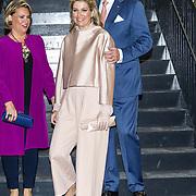 LUX/Luxemburg/20180523 - Staatsbezoek Luxemburg dag 2,  Koningin Maxima en Koning Willem Alexander en groothertogin Maria Teresa