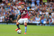 Ashley Westwood of Aston Villa in action. EFL Skybet championship match, Aston Villa v Rotherham Utd at Villa Park in Birmingham, The Midlands on Saturday 13th August 2016.<br /> pic by Andrew Orchard, Andrew Orchard sports photography.
