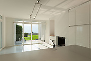 Architecture, interior of a modern house, view from the kitchen