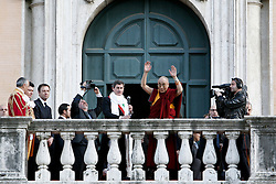 Roma feb 09, 2009 - Dalai Lama of Tibet, to Rome for the conferral of citizenship <br /> honorary.