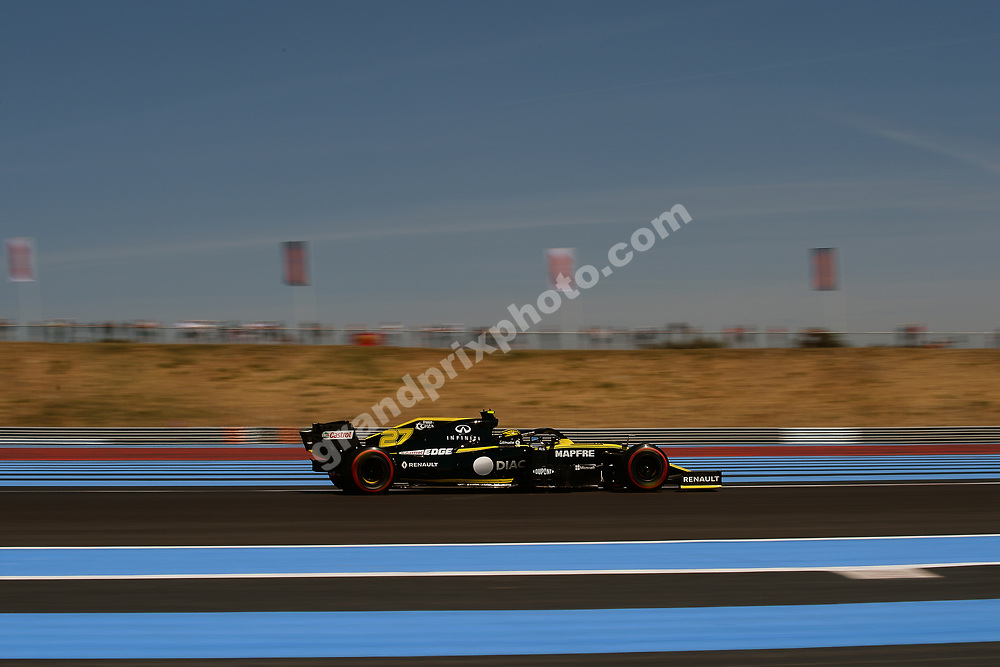 Nico Hülkenberg (Renault) during practice for the 2019 French Grand Prix at Paul Ricard. Photo: Grand Prix Photo