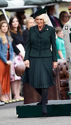 May 1, 2019 - Aldershot, Hampshire, United Kingdom - Medal Presentation,Aldershot. Normandy Barracks.The Duchess of Cornwall Royal Colonel 4th Battalion the Rifles Attends a Medal Parade, (Credit Image: © i-Images via ZUMA Press)