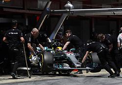 May 13, 2017 - Barcelona, Spain - Motorsports: FIA Formula One World Championship 2017, Grand Prix of Spain, .#44 Lewis Hamilton (GBR, Mercedes AMG Petronas F1 Team) (Credit Image: © Hoch Zwei via ZUMA Wire)
