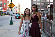 Shadow Drum and Bugle Corps age-outs eat at The Old Spaghetti Factory in Indianapolis, Indiana on August 7, 2019. <br /> <br /> Beth Skogen Photography - www.bethskogen.com