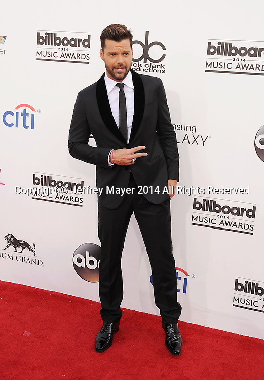 LAS VEGAS, CA- MAY 18: Recording artist Ricky Martin arrives at the 2014 Billboard Music Awards at the MGM Grand Garden Arena on May 18, 2014 in Las Vegas, Nevada.