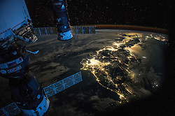EARTH Aboard the International Space Station -- 25 Jul 2015 -- Night Earth observation of Japan taken by Expedition 44 crewmember Scott Kelly, with a Soyuz Spacecraft connected to the Mini Research Module 1 (MRM1), and a Progress Spacecraft visible during his record 340 days in space aboard the International Space Station --. EXPA Pictures © 2016, PhotoCredit: EXPA/ Photoshot/ Scott Kelly/Atlas Photo Archive/<br /><br />*****ATTENTION - for AUT, SLO, CRO, SRB, BIH, MAZ, SUI only*****
