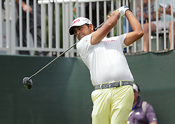 June 24, 2018 - Cromwell, CT, U.S. - CROMWELL, CT - JUNE 24:  Anirban Lahiri of India off on 1 during the Final Round of the Travelers Championship on June 24, 2018 at TPC River Highlands in Cromwell, CT (Photo by Joshua Sarner/Icon Sportswire) (Credit Image: © Joshua Sarner/Icon SMI via ZUMA Press)