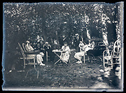 family picnic in the woods France ca 1920s