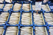 Nederland, Nijmegen, 28-5-2012Op de markt worden asperges aangeboden voor de prijs van 2 kilo voor 5 euro.Foto: Flip Franssen/Hollandse Hoogte