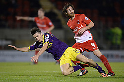 Notts County's Jack Grealish is fouled by Leyton Orient's Romain Vincelot   - Photo mandatory by-line: Mitchell Gunn/JMP - Tel: Mobile: 07966 386802 17/09/2013 - SPORT - FOOTBALL -  Matchroom Stadium - London - Leyton Orient v Notts County - Sky Bet League One