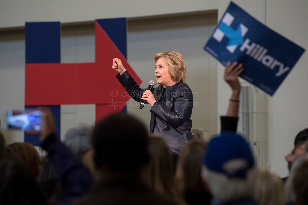 """Hillary Clinton, former Secretary of State and 2016 Democratic presidential candidate, speaks during a campaign event in Oakland, California, U.S., on Friday, May 6, 2016. Clinton tried to make amends with West Virginia voters Monday after a laid-off miner confronted her over comments she made weeks ago about putting the coal industry """"out of business."""" Photographer: David Paul Morris"""