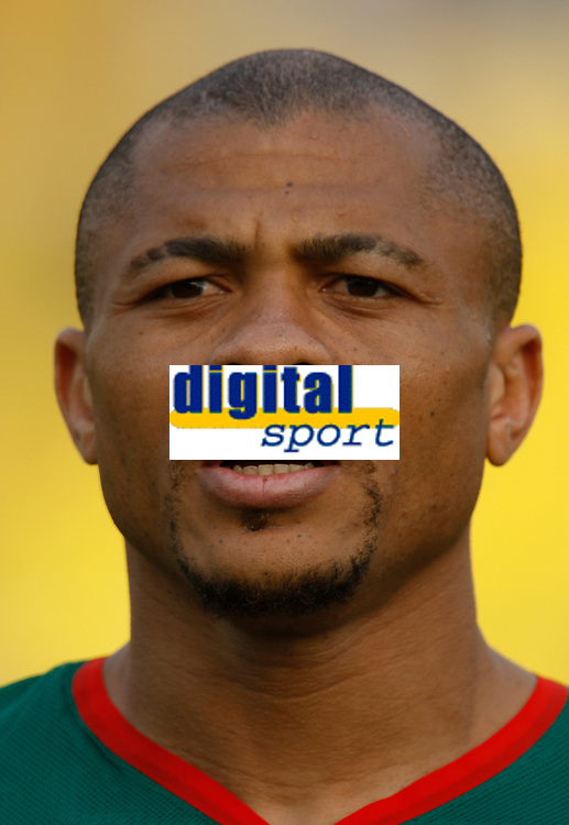 Photo: Steve Bond/Richard Lane Photography.<br />Egypt v Cameroun. Africa Cup of Nations. 22/01/2008. Joel Epalle of Cameroon and Bochum lines up before the game