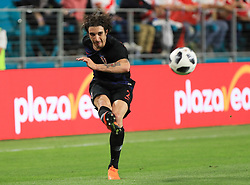 March 23, 2018 - Miami Gardens, Florida, USA - Croatia defender Sime Vrsaljko (2) in action during a FIFA World Cup 2018 preparation match between the Peru National Soccer Team and the Croatia National Soccer Team at the Hard Rock Stadium in Miami Gardens, Florida. (Credit Image: © Mario Houben via ZUMA Wire)