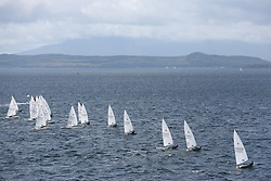 Day 4 NeilPryde Laser National Championships 2014 held at Largs Sailing Club, Scotland from the 10th-17th August.<br /> <br /> Laser Standard Race 1 Start<br /> <br /> Image Credit Marc Turner