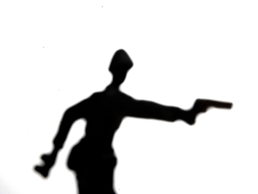 Silhouette of a toy solder