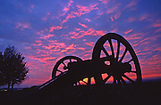 Valley Forge National Military Park, cannon, sunrise