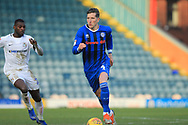 Jim McNulty brings the ball forward during the EFL Sky Bet League 1 match between Rochdale and Coventry City at Spotland, Rochdale, England on 9 February 2019.