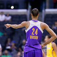 24 July 2014: Phoenix Mercury guard/forward DeWanna Bonner (24) is seen during the Phoenix Mercury 93-73 victory over the Los Angeles Sparks, at the Staples Center, Los Angeles, California, USA.