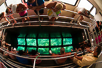 Glass bottom boat, John Pennekamp Coral Reef State Park, Key Largo, Florida Keys, USA