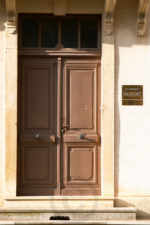 entrance door domaine parent pommard cote de beaune burgundy france