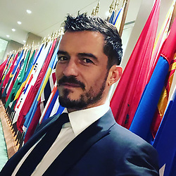 """Orlando Bloom releases a photo on Instagram with the following caption: """"at the UN in NYC for the premiere of the Unicef documentary Tales by Light  #talesbylight  #netflix coming soon December 21st"""". Photo Credit: Instagram *** No USA Distribution *** For Editorial Use Only *** Not to be Published in Books or Photo Books ***  Please note: Fees charged by the agency are for the agency's services only, and do not, nor are they intended to, convey to the user any ownership of Copyright or License in the material. The agency does not claim any ownership including but not limited to Copyright or License in the attached material. By publishing this material you expressly agree to indemnify and to hold the agency and its directors, shareholders and employees harmless from any loss, claims, damages, demands, expenses (including legal fees), or any causes of action or allegation against the agency arising out of or connected in any way with publication of the material."""