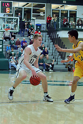 21 February 2017:  Brady Rose during an College men's division 3 CCIW basketball game between the Augustana Vikings and the Illinois Wesleyan Titans in Shirk Center, Bloomington IL