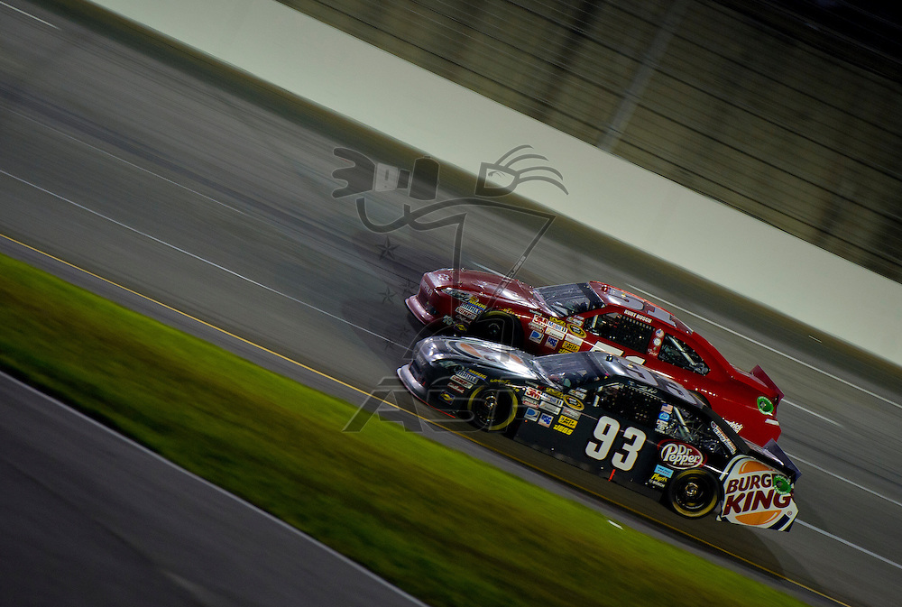 Sparta, KY - JUN 30, 2012: Travis Kvapil (93) during the Quaker State 400 at  Kentucky Speedway in Sparta, KY.