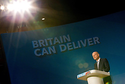 © Licensed to London News Pictures. 07/10/2012. Birmingham , UK . William Hague delivers his speech to the conference . Conservative Party Conference Day 1 at the International Convention Centre . Photo credit : Joel Goodman/LNP