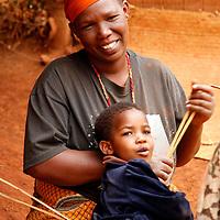 Africa, Tanzania, Karratu. Iraqw mother and child in Tanzania.