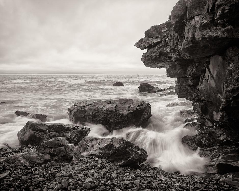 Rocks and waves near Great Head, Acadia National Park, Maine