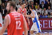 DESCRIZIONE : Beko Legabasket Serie A 2015- 2016 Playoff Quarti di Finale Gara3 Dinamo Banco di Sardegna Sassari - Grissin Bon Reggio Emilia<br /> GIOCATORE : Achille Polonara Giacomo Devecchi<br /> CATEGORIA : Fair Play Rissa Espulsione<br /> SQUADRA : Grissin Bon Reggio Emilia<br /> EVENTO : Beko Legabasket Serie A 2015-2016 Playoff<br /> GARA : Quarti di Finale Gara3 Dinamo Banco di Sardegna Sassari - Grissin Bon Reggio Emilia<br /> DATA : 11/05/2016<br /> SPORT : Pallacanestro <br /> AUTORE : Agenzia Ciamillo-Castoria/L.Canu