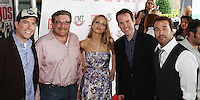 """Actor Ed Helms, Alex Ferrari, actress Jordana Spiro , President of CMT Brian Philips, and actor Jeremy Piven attend a screening of """"The Goods: Live Hard. Sell Hard."""" at the Regal Hollywood 27 on July 13, 2009 in Nashville, Tennessee.  (Photo by Frederick Breedon/WireImage)"""