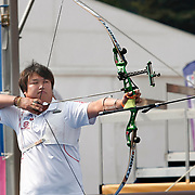 OH Jin-Hyek (KOR) competes in Archery World Cup Final in Istanbul, Turkey, Sunday, September 25, 2011. Photo by TURKPIX