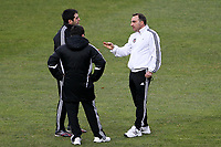 20120213: BRAGA, PORTUGAL - Coach Carlos Carvalhal at the Besiktas JK training session before UEFA Europe League match against SC Braga.<br />