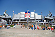 General view of the exterior of Sports Authority Field at Mile High before the Denver Broncos NFL week 4 football game against the Oakland Raiders on Sunday, Sept. 30, 2012 in Denver. The Broncos won the game 37-6. ©Paul Anthony Spinelli