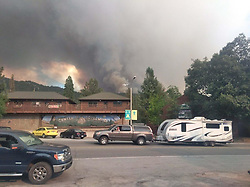 July 25, 2018 - Idyllwild, California, U.S. - Evacuation. The Cranston Fire continues to burn in Idyllwild California. The fire has grown to over 4,700 acres and is five percent contained. Over 3,000 people have been evacuated from 2,174 homes and five structures have been destroyed. (Credit Image: © Cal Fire via ZUMA Wire/ZUMAPRESS.com)