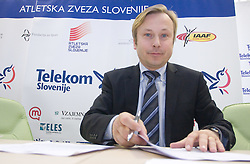 Peter Kukovica  when Slovenian athletes and their coaches sign contracts with Athletic federation of Slovenia for year 2009,  in Ljubljana, Slovenia, on March 2, 2009. (Photo by Vid Ponikvar / Sportida)
