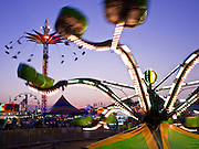 "01 SEPTEMBER 2011 - ST. PAUL, MN:  The midway at the Minnesota State Fair. The Minnesota State Fair is one of the largest state fairs in the United States. It's called ""the Great Minnesota Get Together"" and includes numerous agricultural exhibits, a vast midway with rides and games, horse shows and rodeos. Nearly two million people a year visit the fair, which is located in St. Paul.   PHOTO BY JACK KURTZ"
